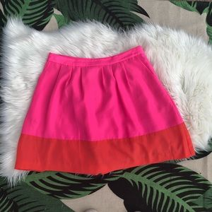 J. Crew Pleated Colorblock Skirt